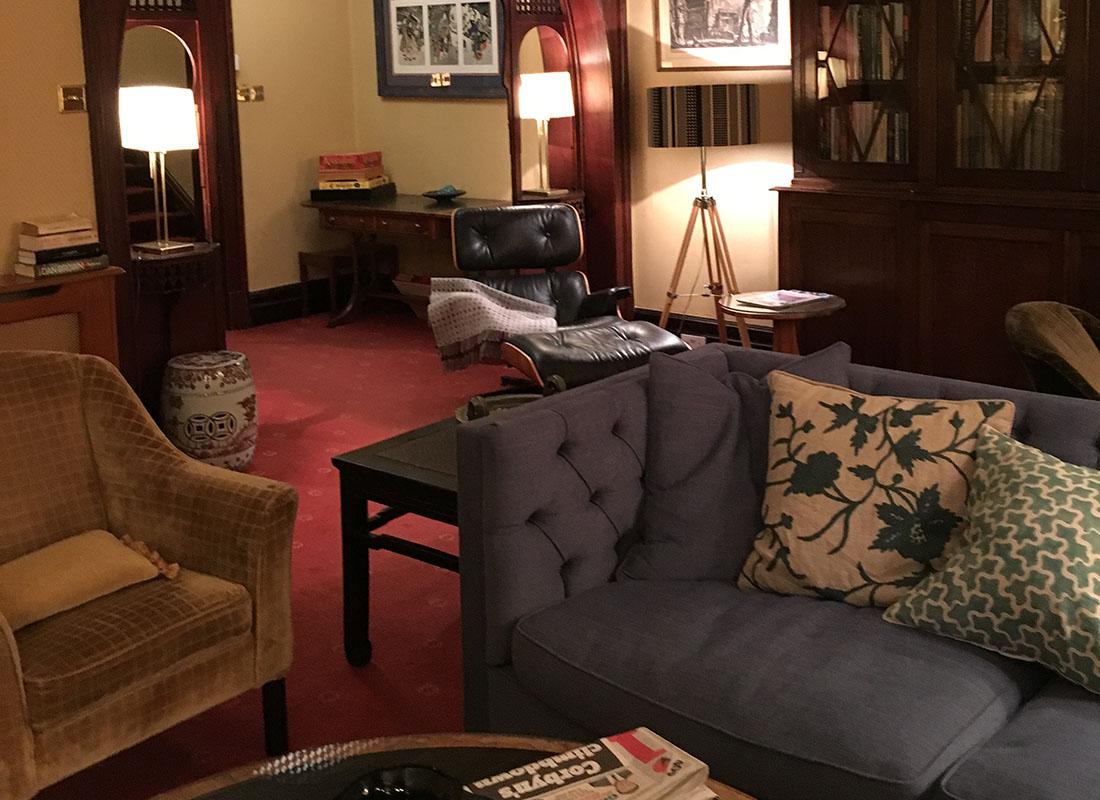 Ravenstone Manor Lounge by Night