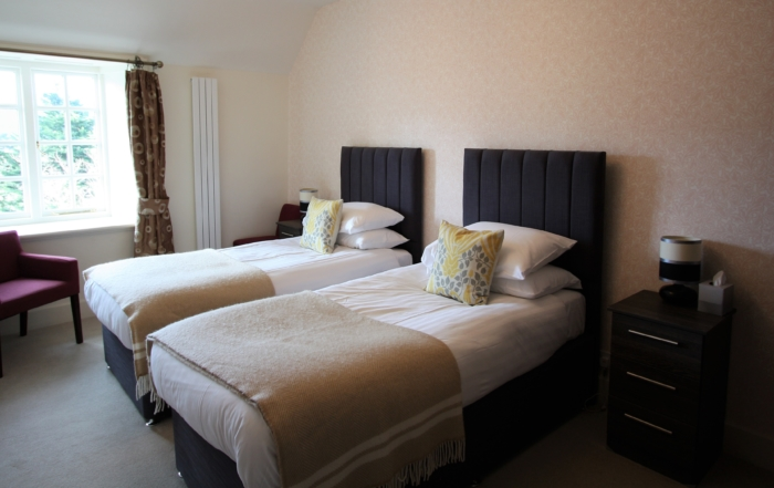 Ravenstone Manor Hotel twin room